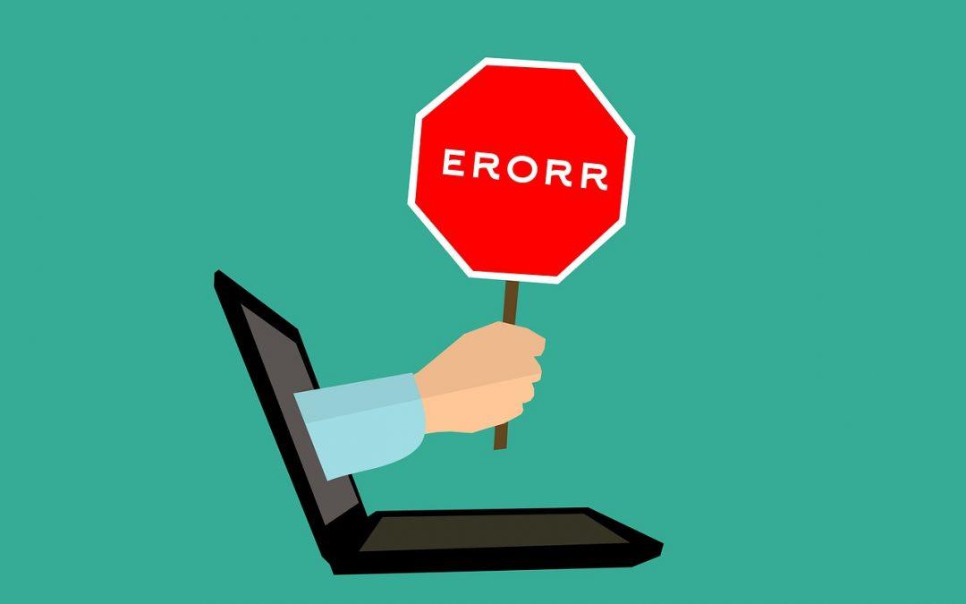 5 errori online