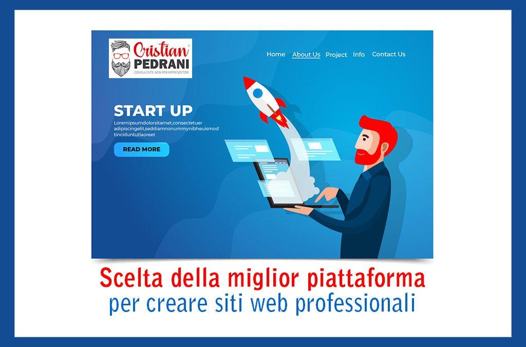 Scelta della miglior piattaforma per creare siti web professionali