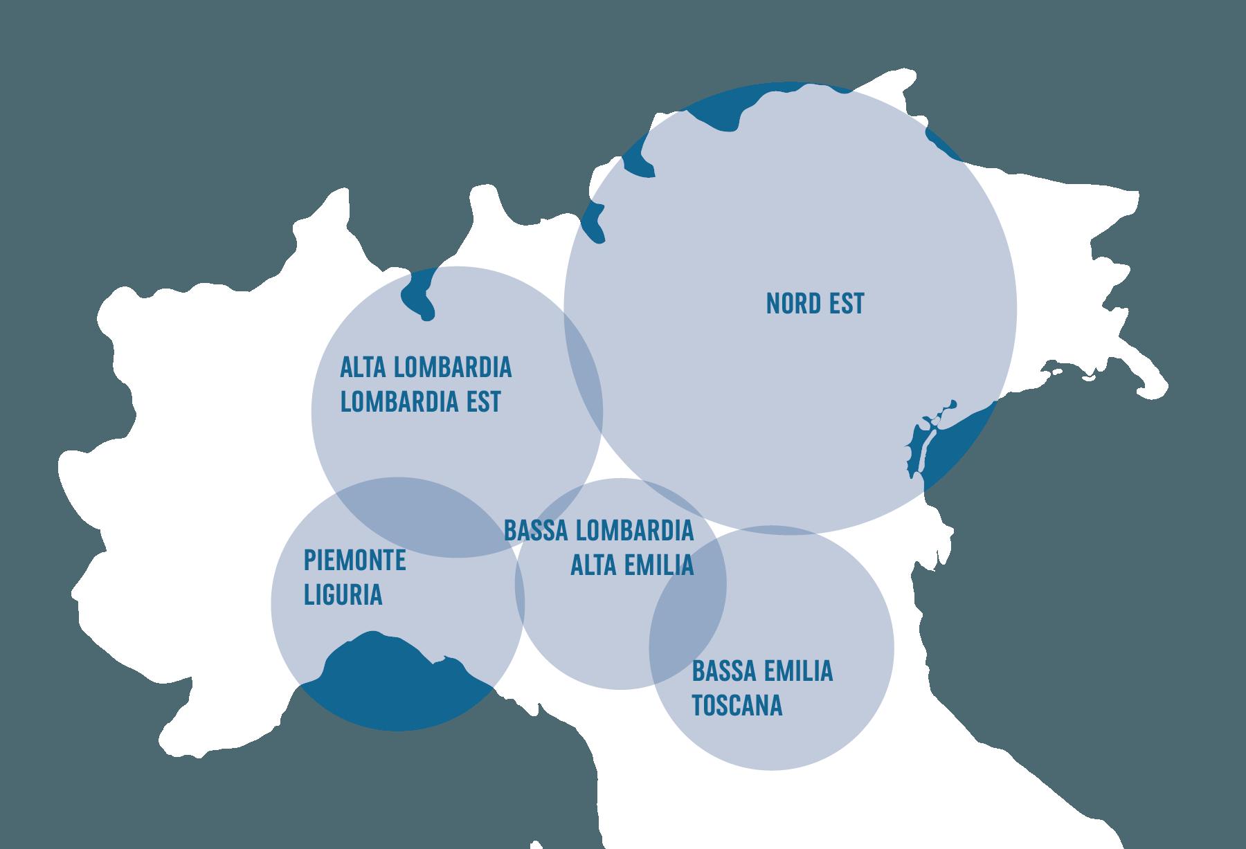 Aree Geografiche Nuove Aperture Nord Italia